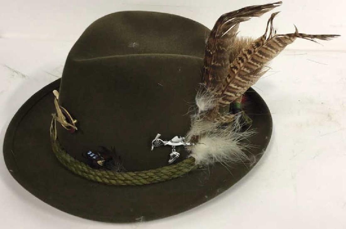 Vintage Anton Pichler Graz Mens Hat Vintage felt hat - 5