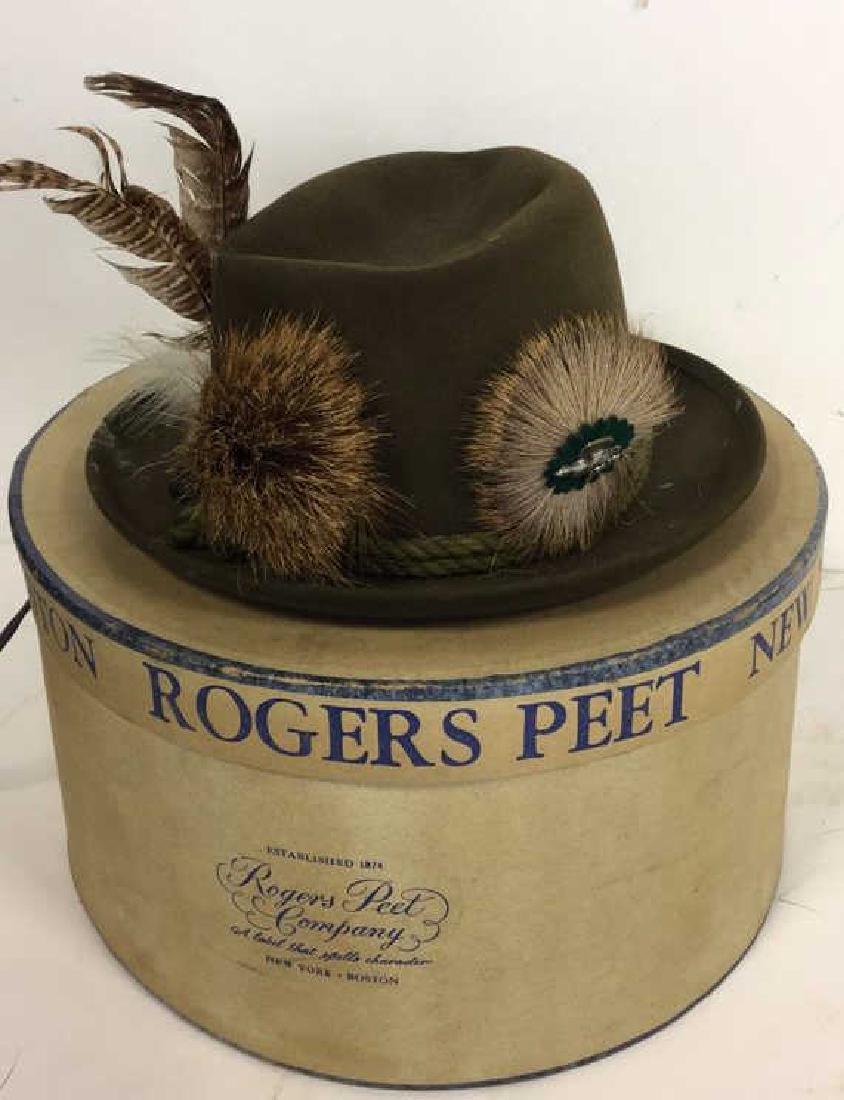 Vintage Anton Pichler Graz Mens Hat Vintage felt hat - 9