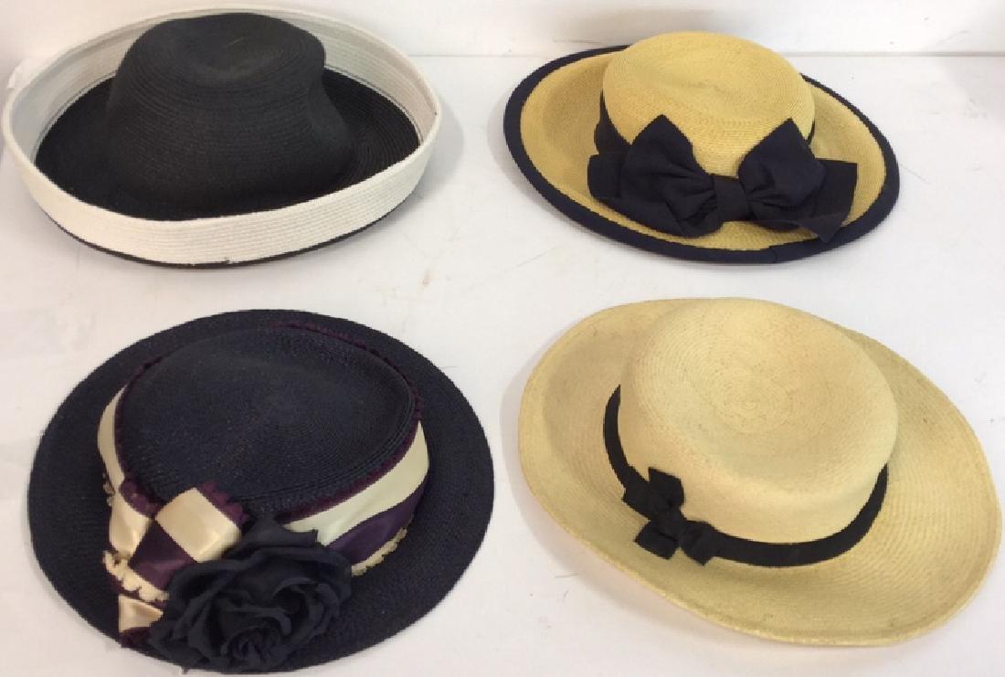 Collection of Four Vintage Ladies Hats 4 vintage ladies