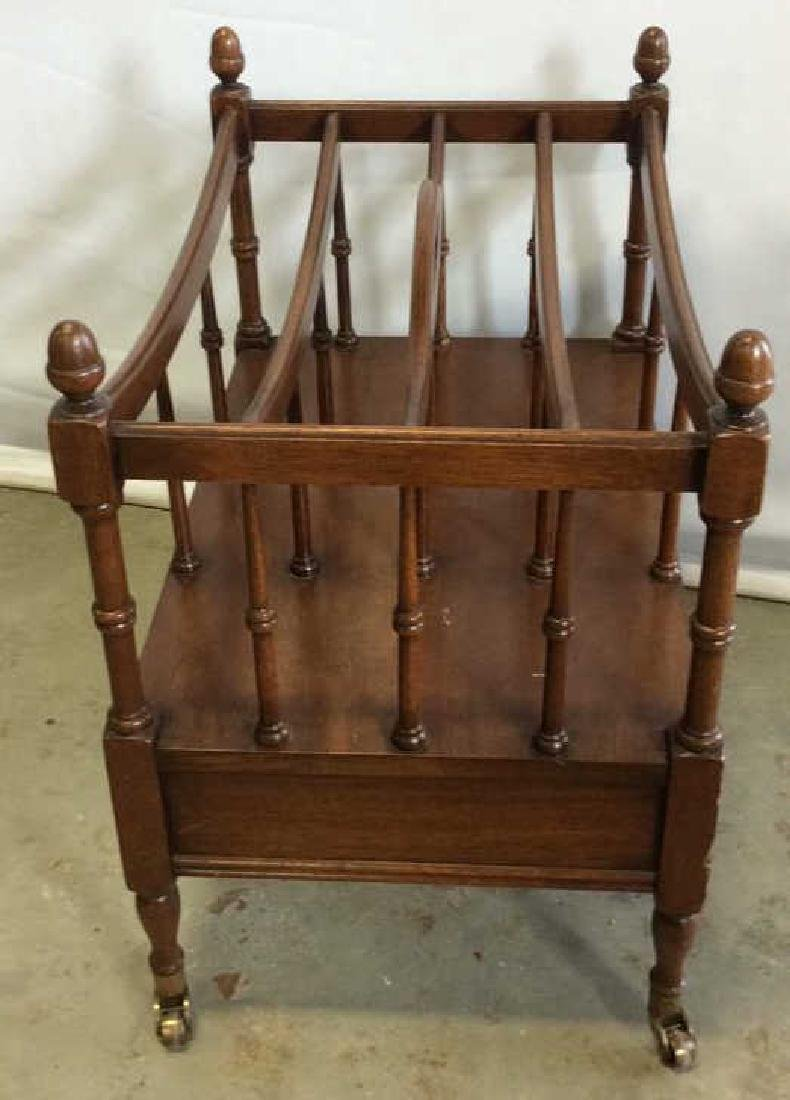 Antique Mahogany Canterbury Casters Turned spindles - 8