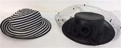 2 Vintage Ladies Hats Pair of ladies hats one black