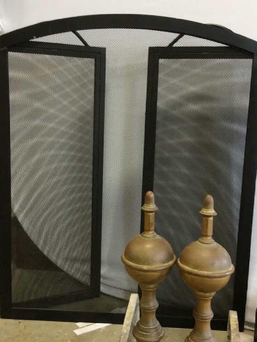 Fireplace Tools Andirons and Trifold screen Fire place - 5