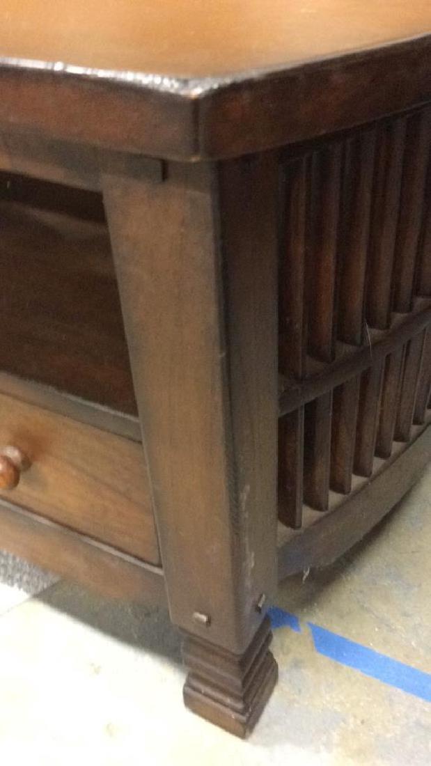 Vintage Mahogany Coffee Table Coffee table low table - 4