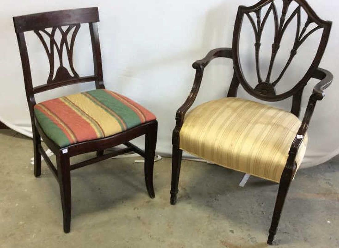 2 Carved Vintage Sheridan Style Chairs Two carved