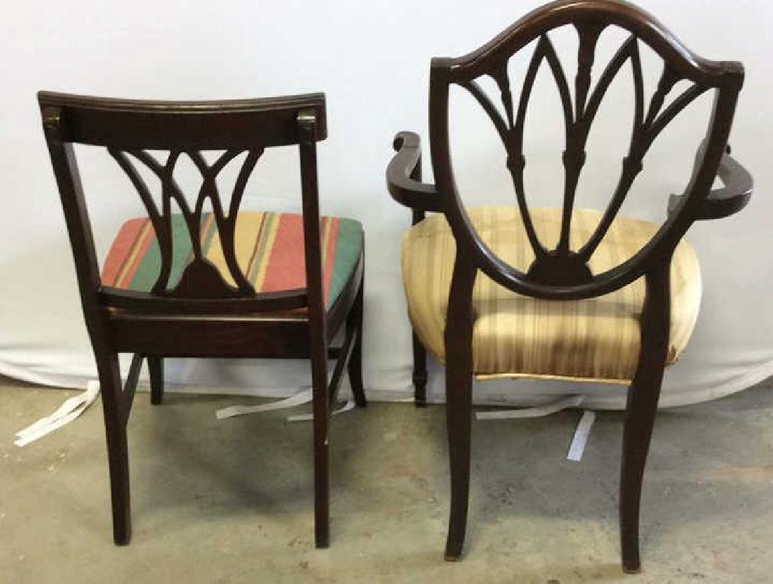 2 Carved Vintage Sheridan Style Chairs Two carved - 2
