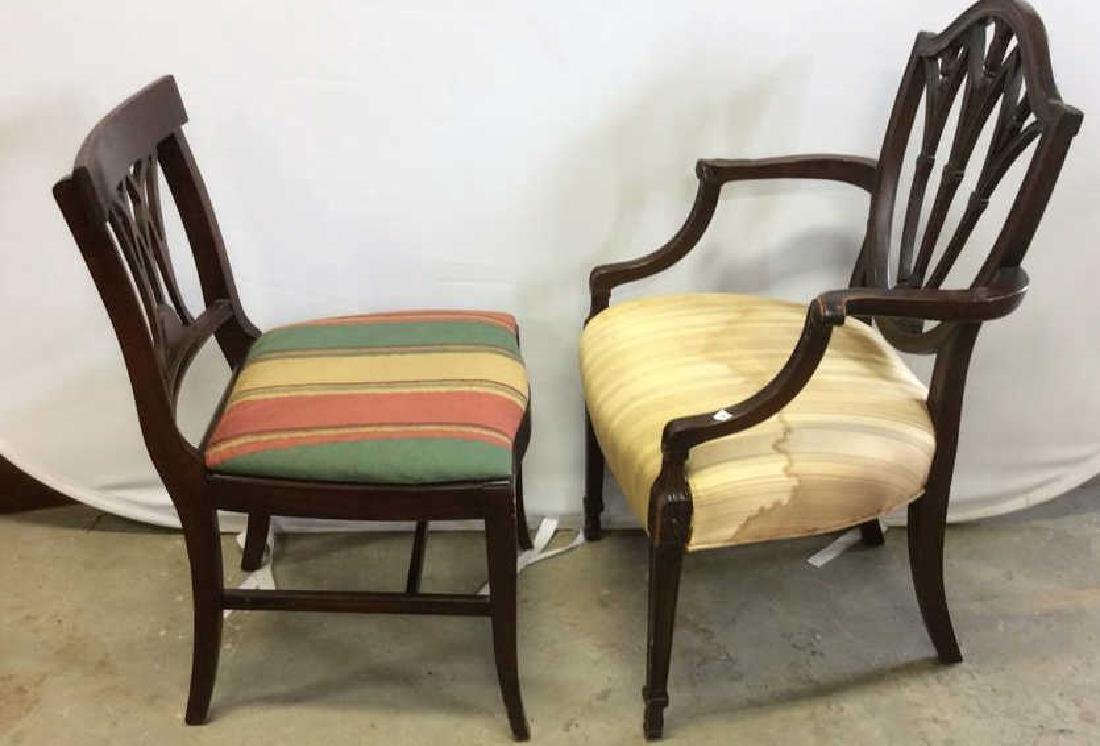 2 Carved Vintage Sheridan Style Chairs Two carved - 3