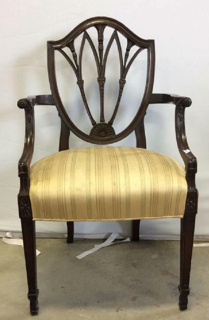 2 Carved Vintage Sheridan Style Chairs Two carved - 6