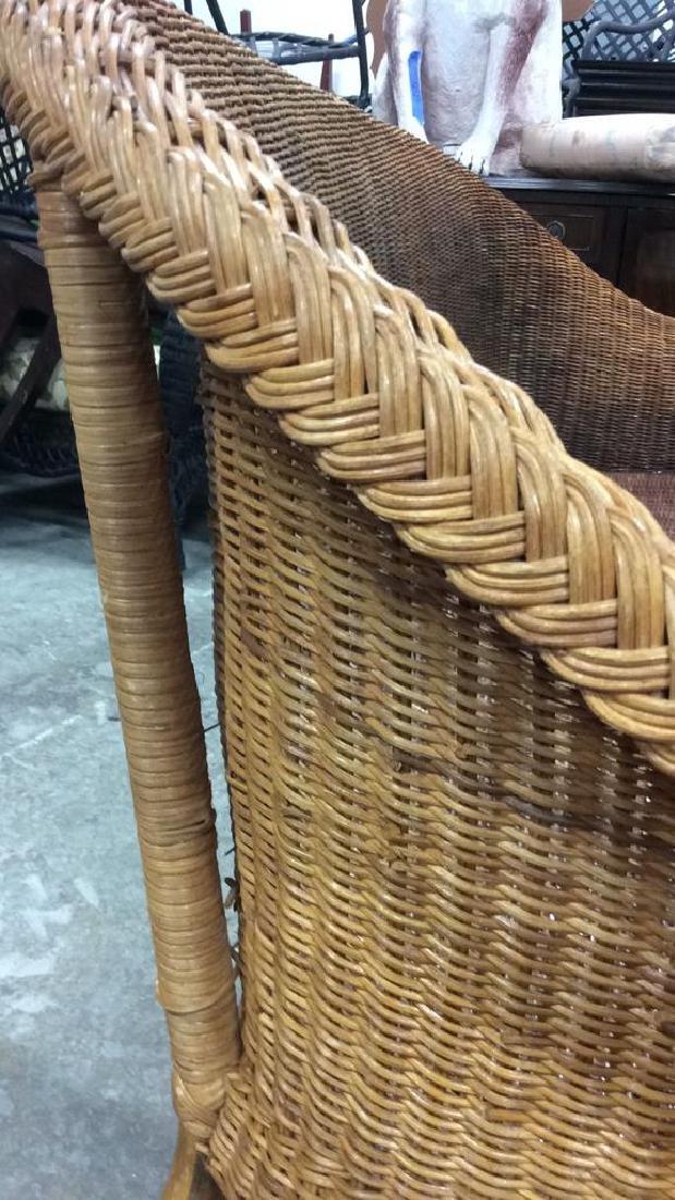 Vintage Bamboo Rattan Sofa Setee Sofa, Setee, old world - 10
