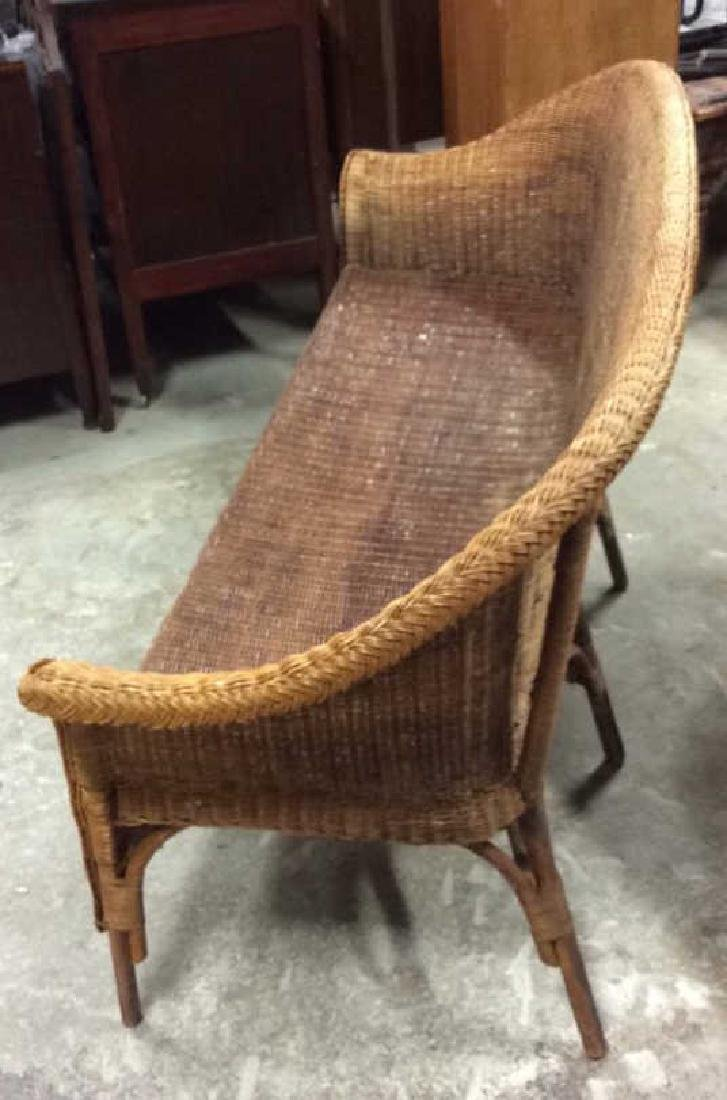 Vintage Bamboo Rattan Sofa Setee Sofa, Setee, old world - 4