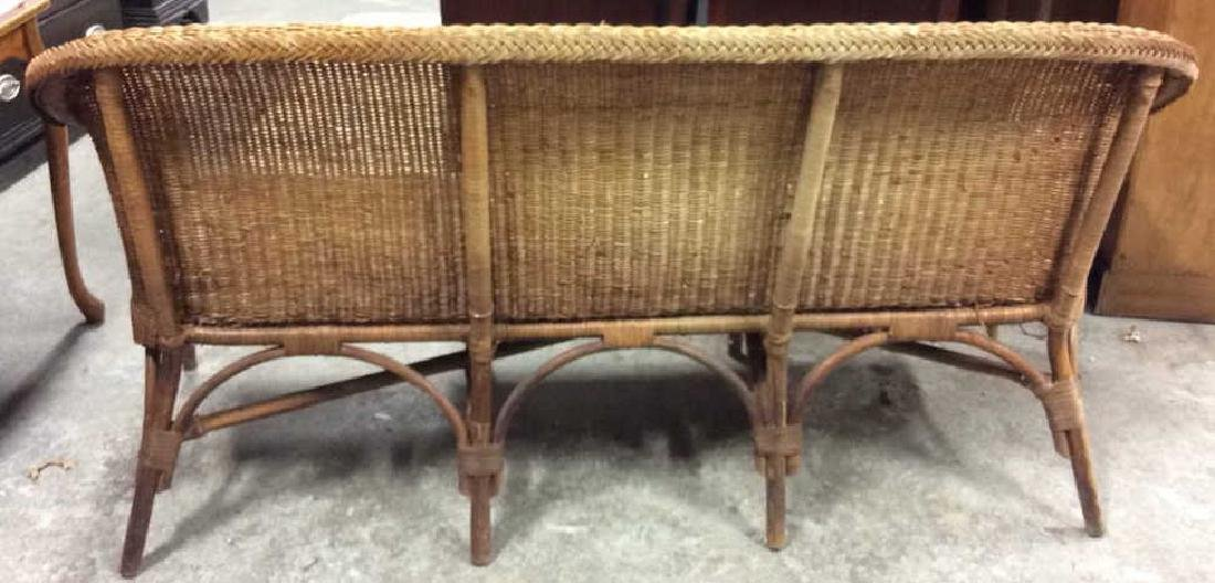 Vintage Bamboo Rattan Sofa Setee Sofa, Setee, old world - 5