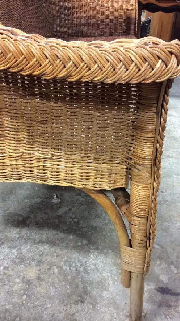 Vintage Bamboo Rattan Sofa Setee Sofa, Setee, old world - 9