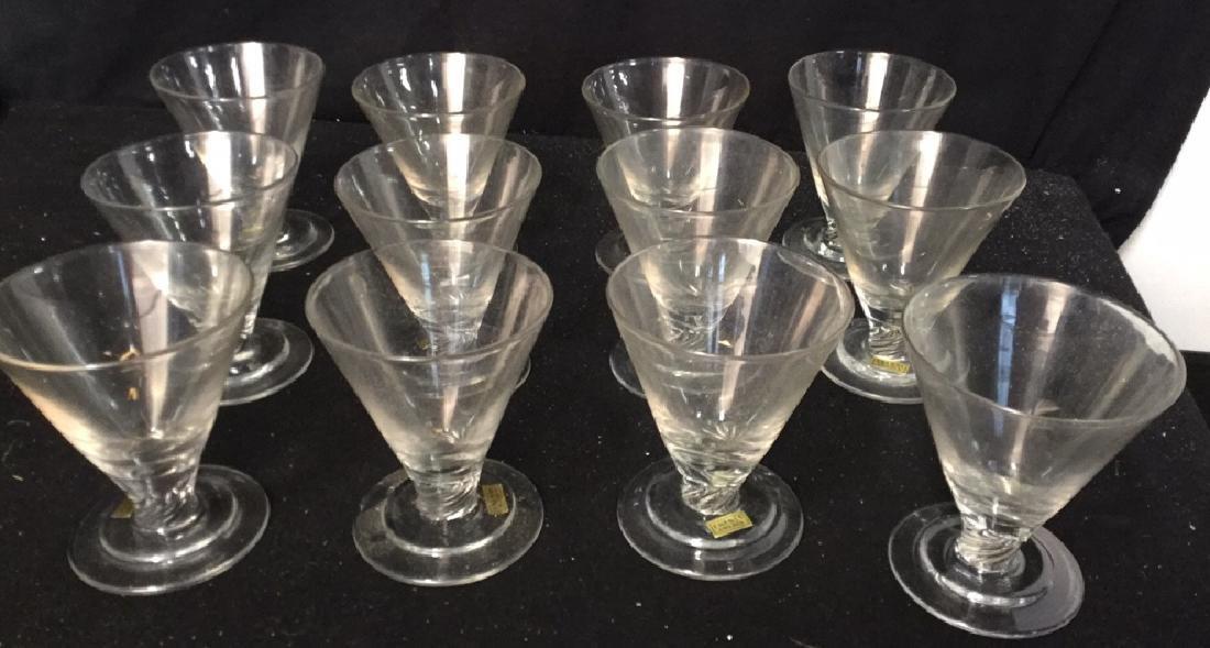 Set Of Ekenas Sweden Crystal Dessert Glasses 12 Ekenas