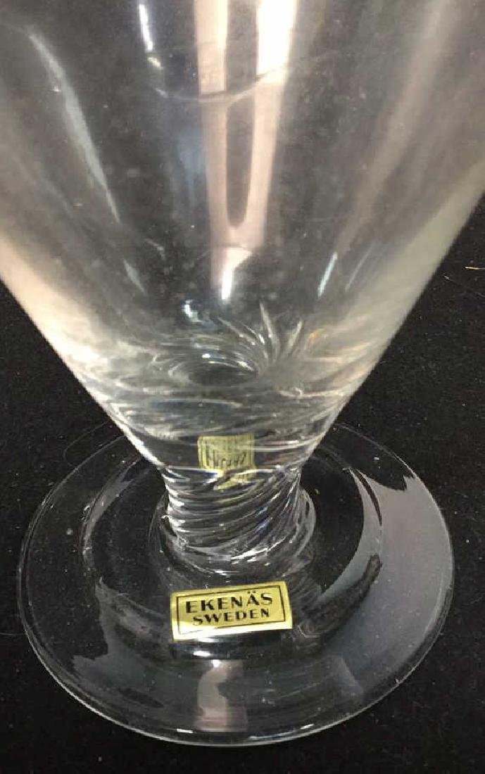 Set Of Ekenas Sweden Crystal Dessert Glasses 12 Ekenas - 3