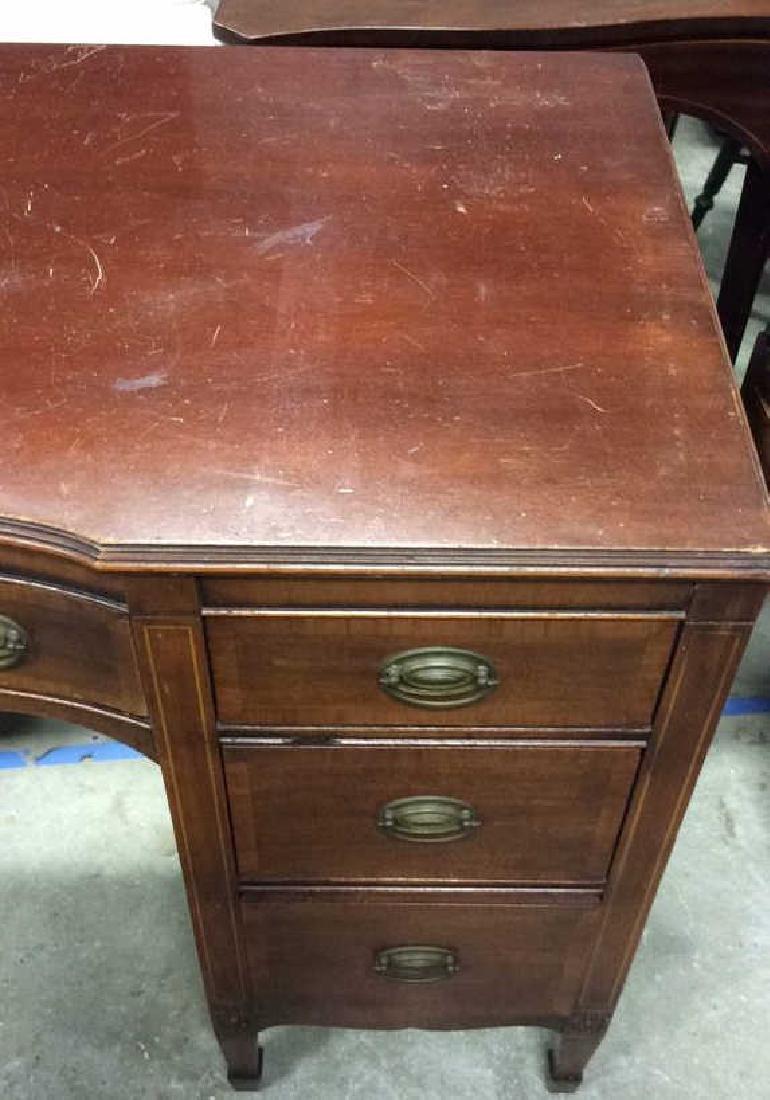 Kindel Vintage Mahogany Desk Kindel Grand Rapids - 4