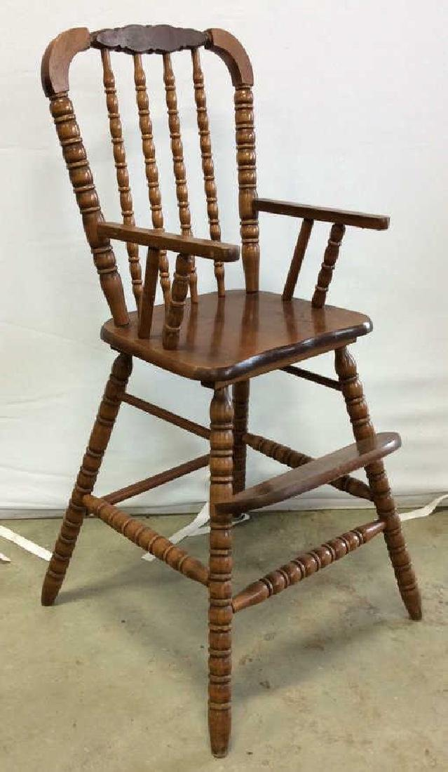 Vintage Mahogany High Chair Vintage child's high chair