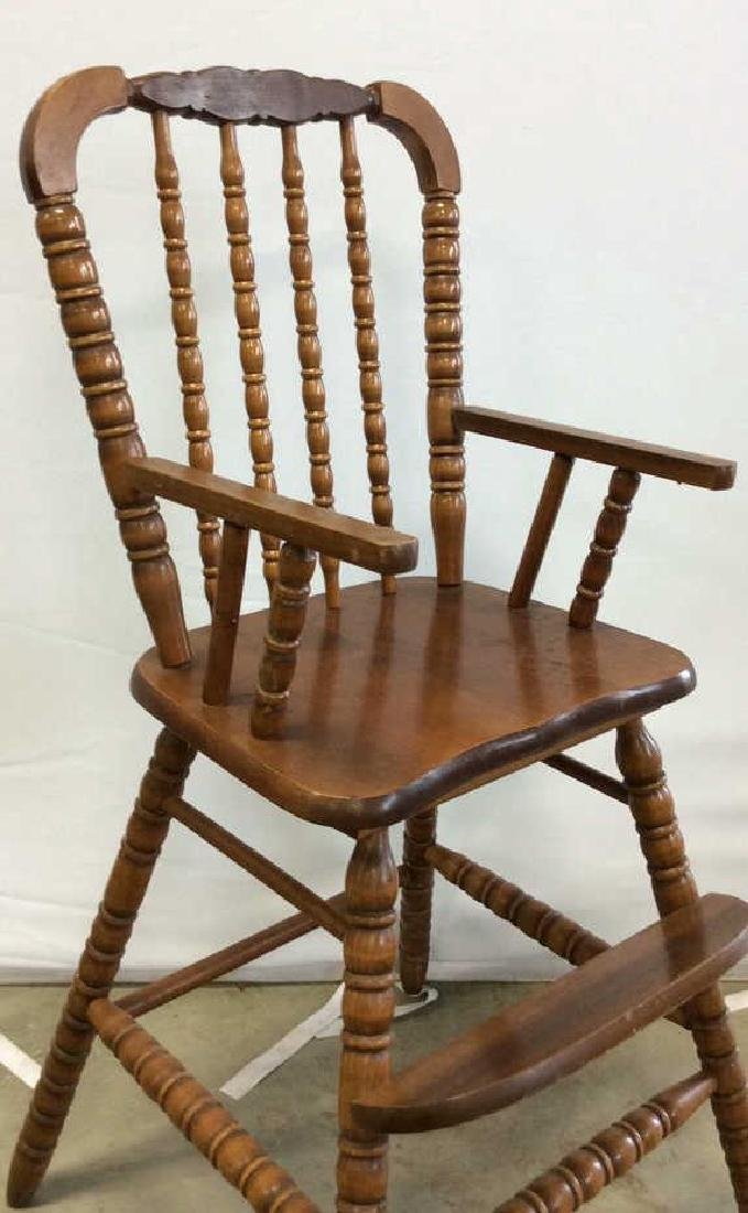 Vintage Mahogany High Chair Vintage child's high chair - 2