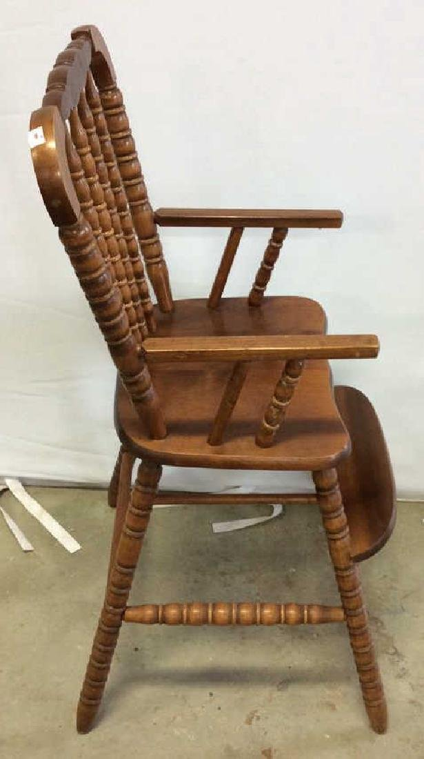 Vintage Mahogany High Chair Vintage child's high chair - 3