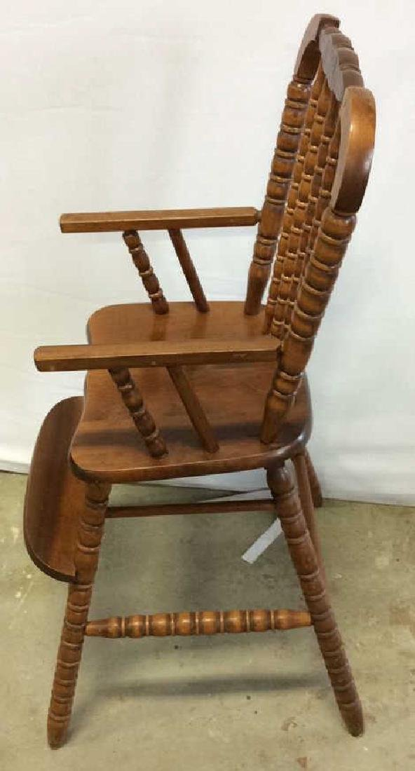 Vintage Mahogany High Chair Vintage child's high chair - 5