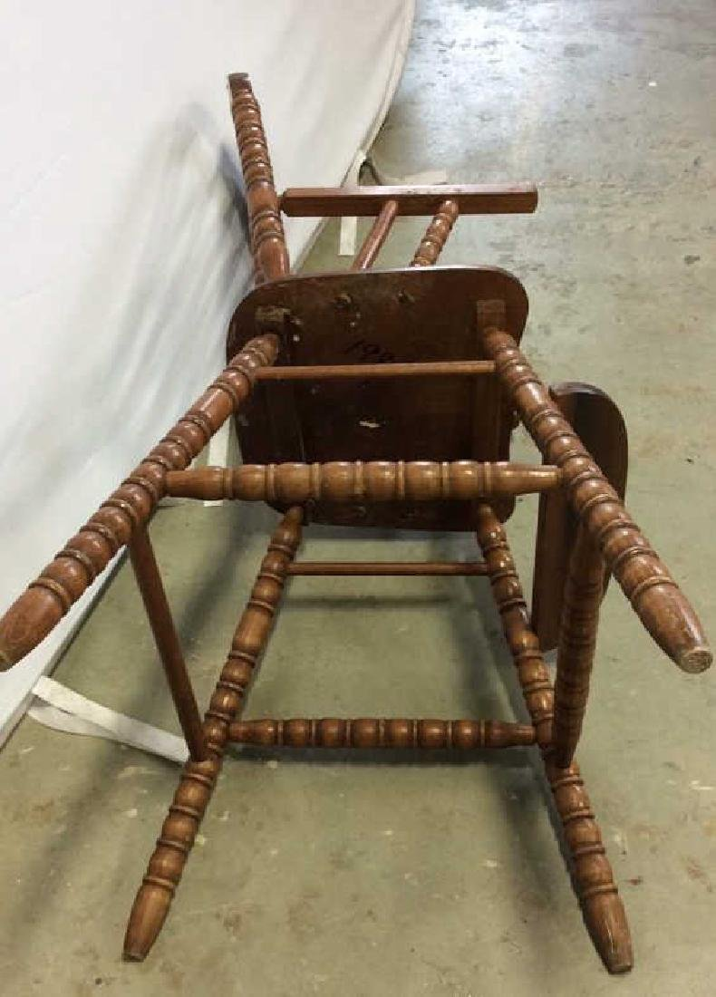 Vintage Mahogany High Chair Vintage child's high chair - 7