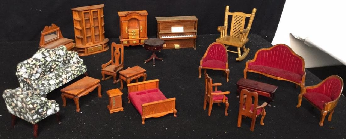 Collection Of Vintage Dollhouse Furniture Assortment of