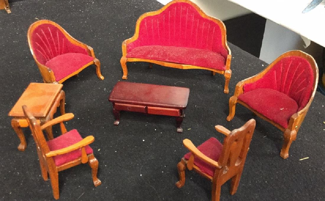 Collection Of Vintage Dollhouse Furniture Assortment of - 2