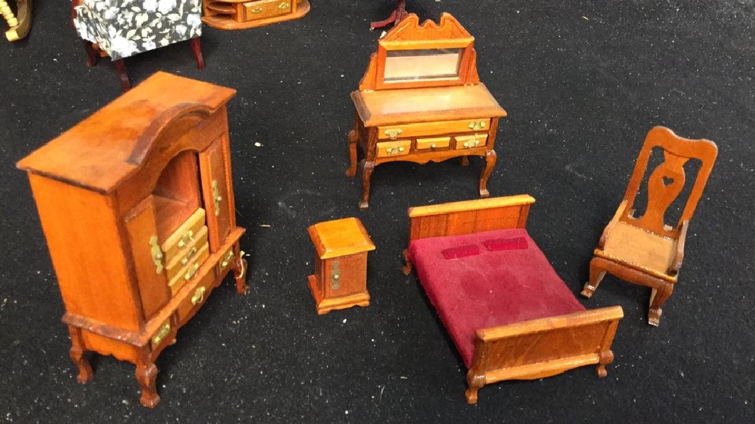 Collection Of Vintage Dollhouse Furniture Assortment of - 3