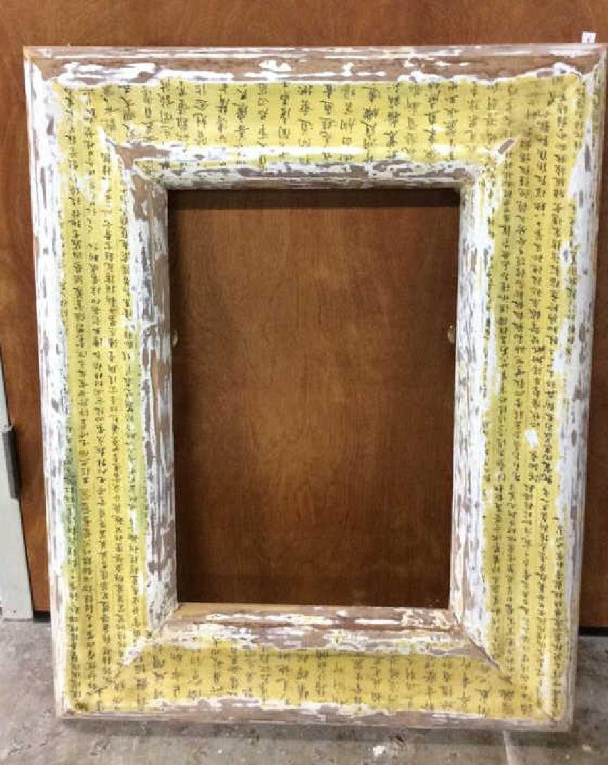 4 Carved Painted Gilded Frames Largest painted yellow