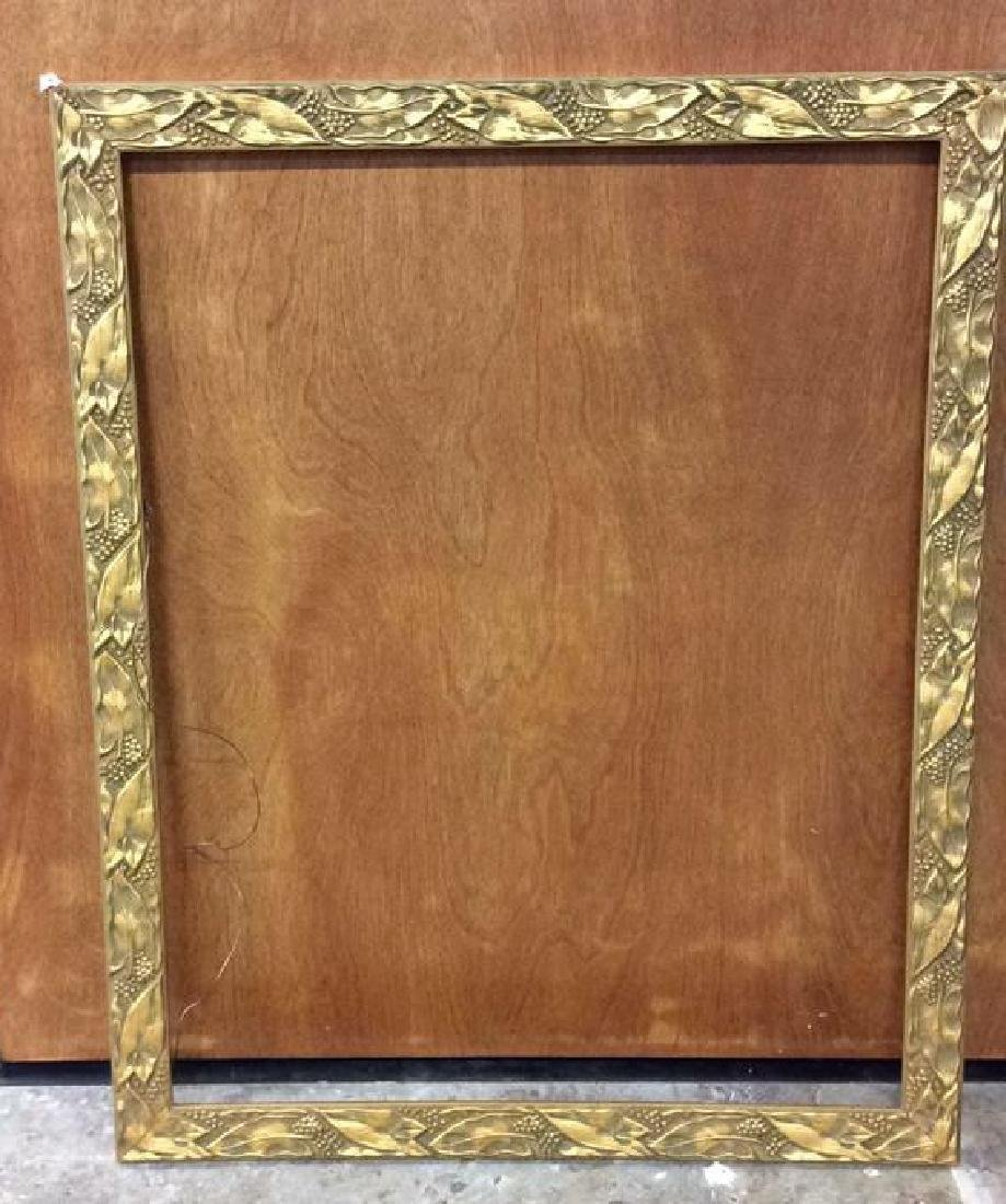 4 Carved Painted Gilded Frames Largest painted yellow - 4