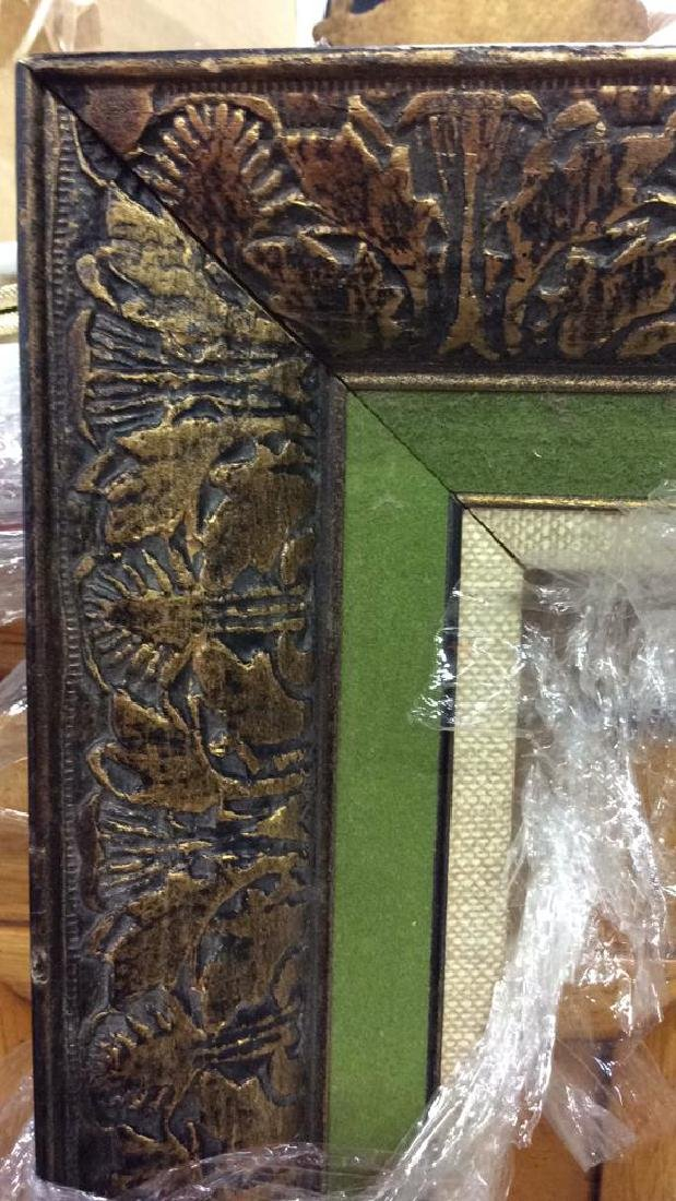 4 Carved Painted Gilded Frames Largest painted yellow - 7