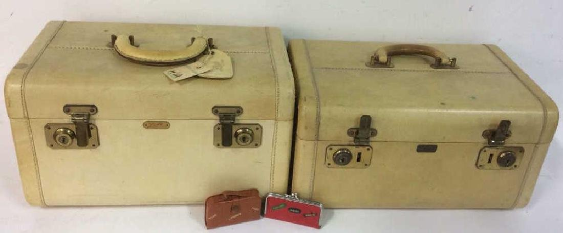 Vintage Lido New York Leather Jewelry Travel Cases