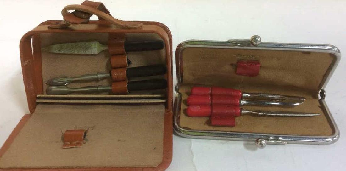 Vintage Lido New York Leather Jewelry Travel Cases - 3