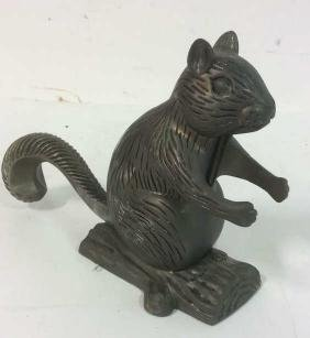 Vintage Metal Squirrel Nutcracker Squirrel form vintage