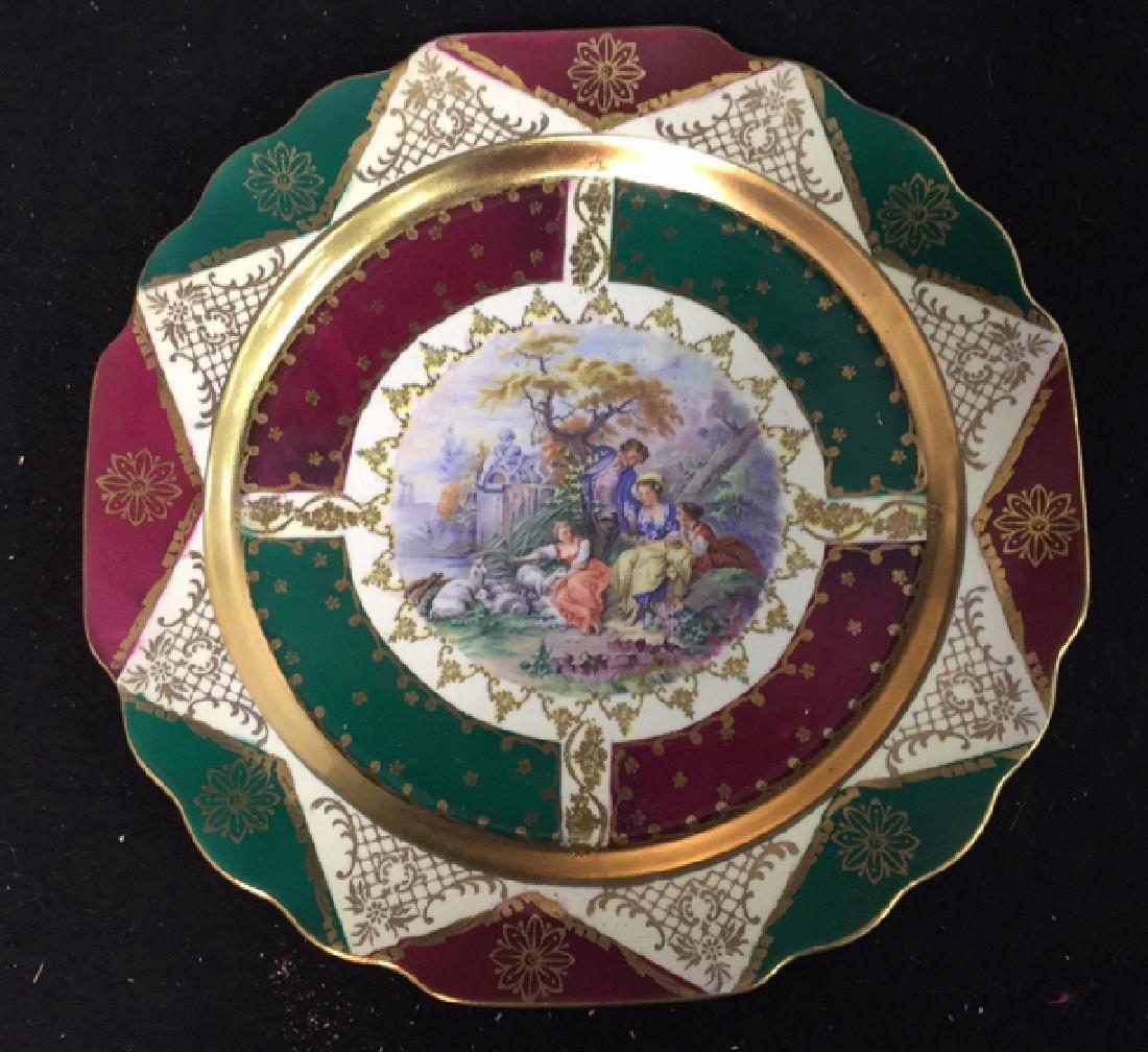 Decorative Porcelain Plates Signed Angelica Set of 4 - 2