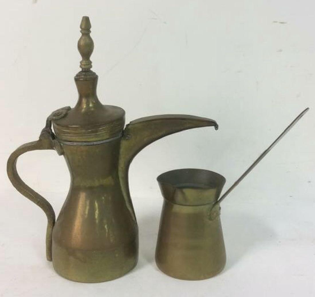 2 Antique Brass kettle Milk Warmer Originally purchased