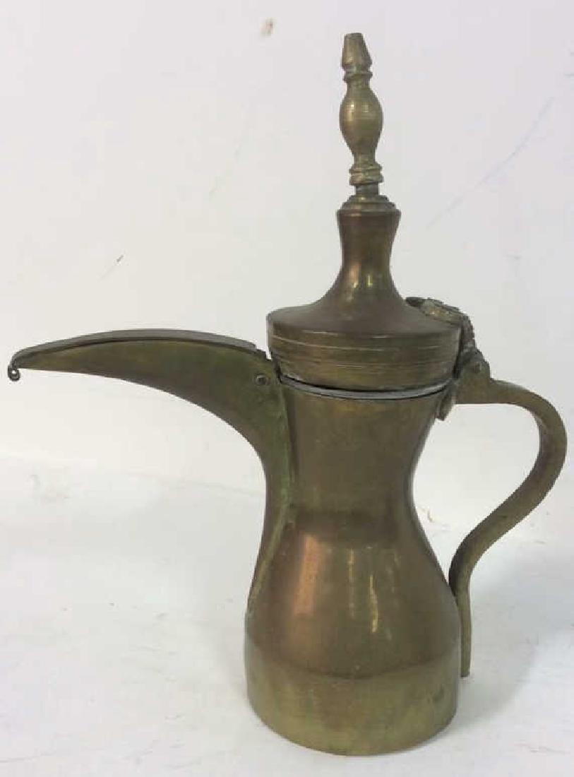 2 Antique Brass kettle Milk Warmer Originally purchased - 3