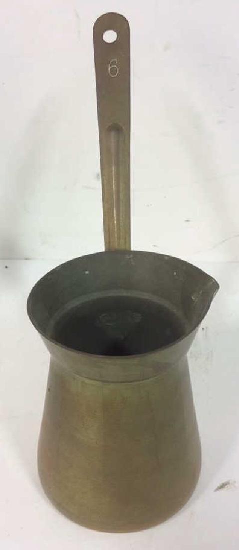 2 Antique Brass kettle Milk Warmer Originally purchased - 4