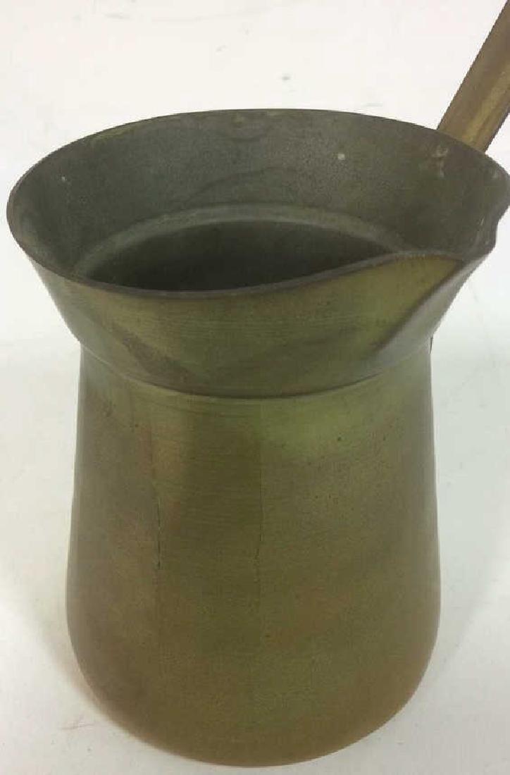 2 Antique Brass kettle Milk Warmer Originally purchased - 7