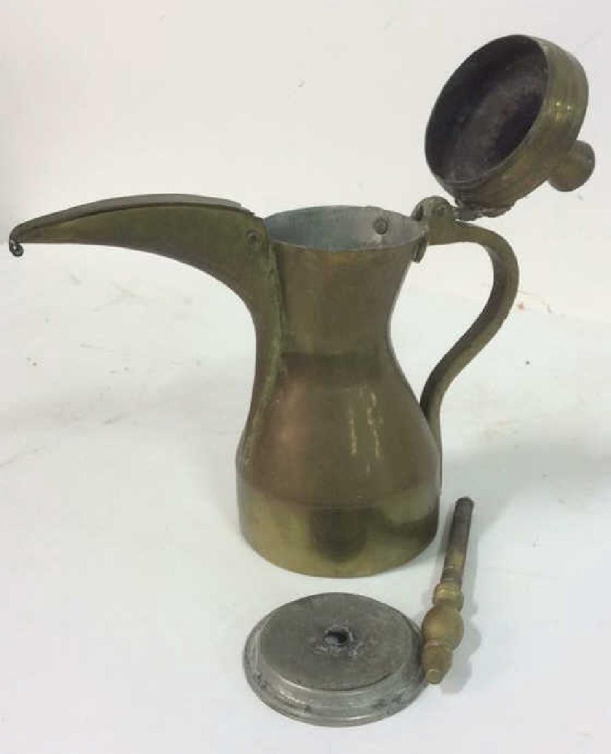 2 Antique Brass kettle Milk Warmer Originally purchased - 8