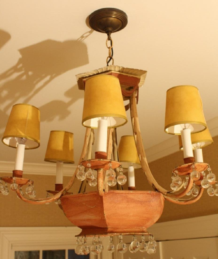 Whimsical Antique Tole Chandelier Purchased at - 2