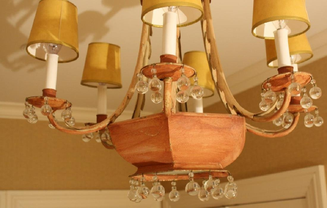 Whimsical Antique Tole Chandelier Purchased at - 3