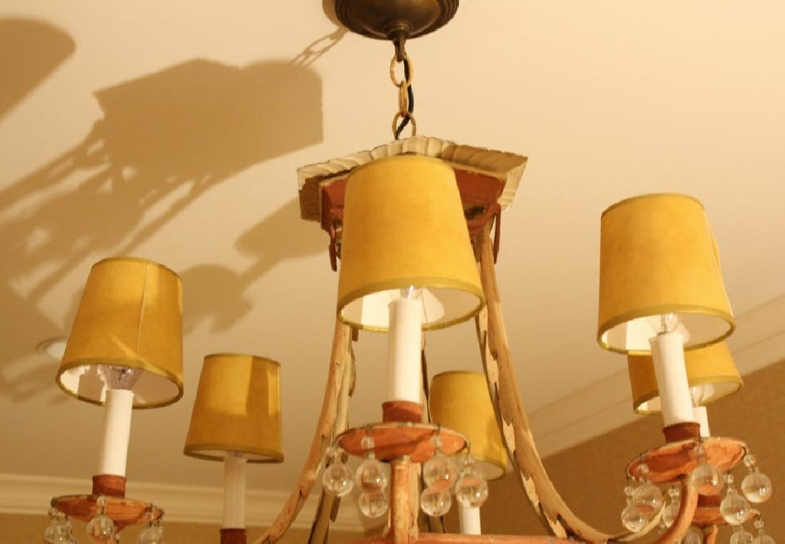 Whimsical Antique Tole Chandelier Purchased at - 4
