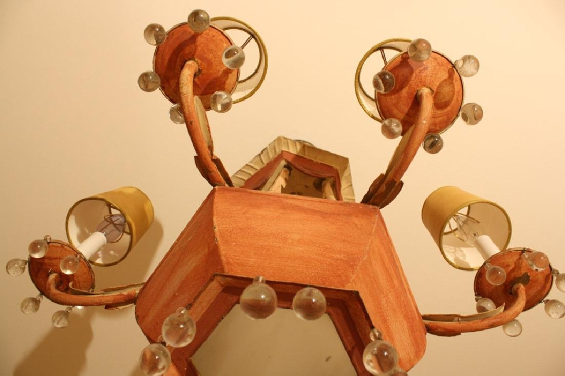 Whimsical Antique Tole Chandelier Purchased at - 5