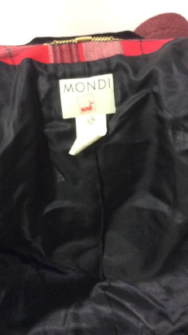 Vintage Mondi Plaid Jacket Double breasted wool long - 7