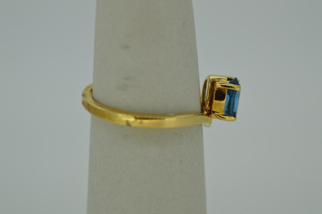 Blue Topaz & 14K Yellow Gold Ring Size 7 Blue Topaz & - 2