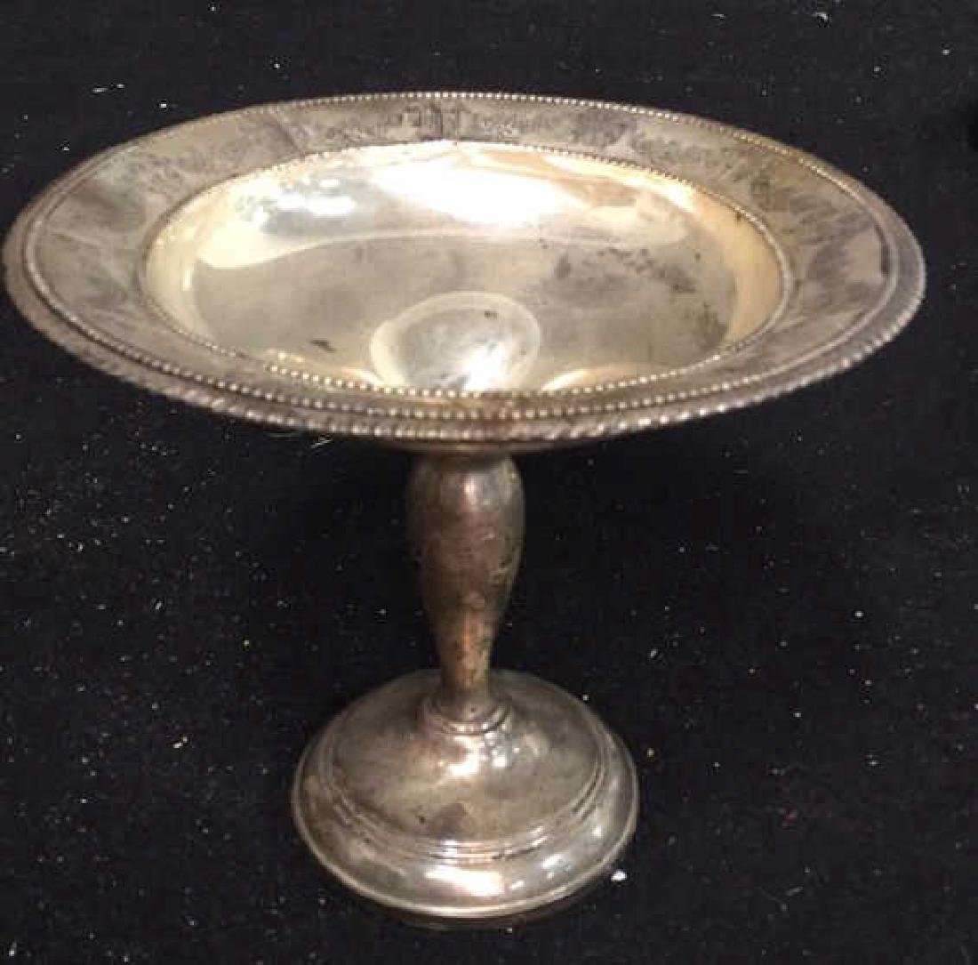 Vintage Sterling Compote Sterling silver footed Compote