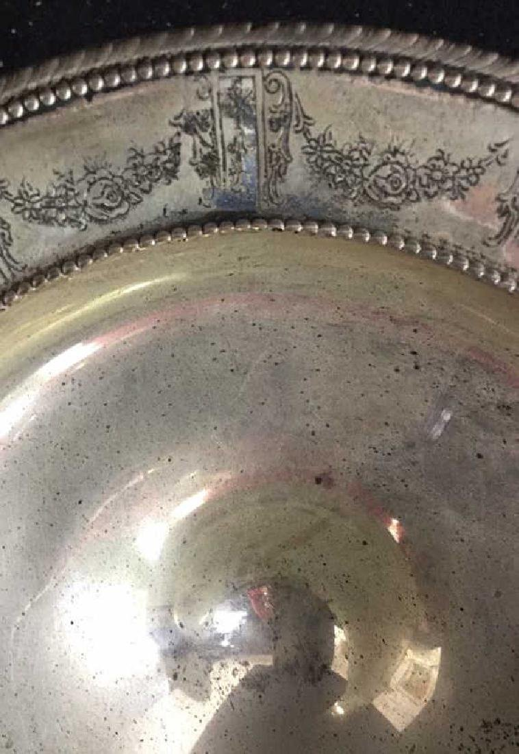 Vintage Sterling Compote Sterling silver footed Compote - 3