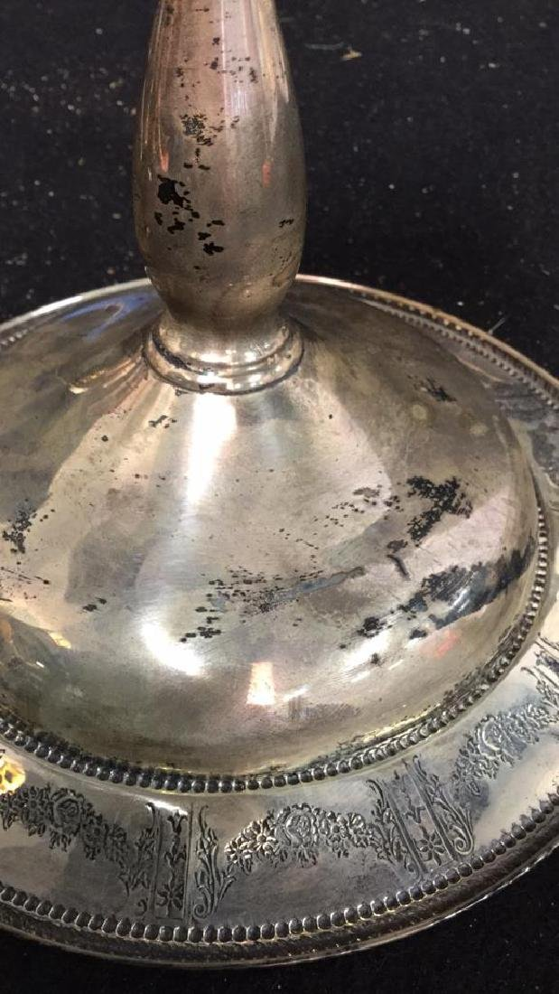 Vintage Sterling Compote Sterling silver footed Compote - 6