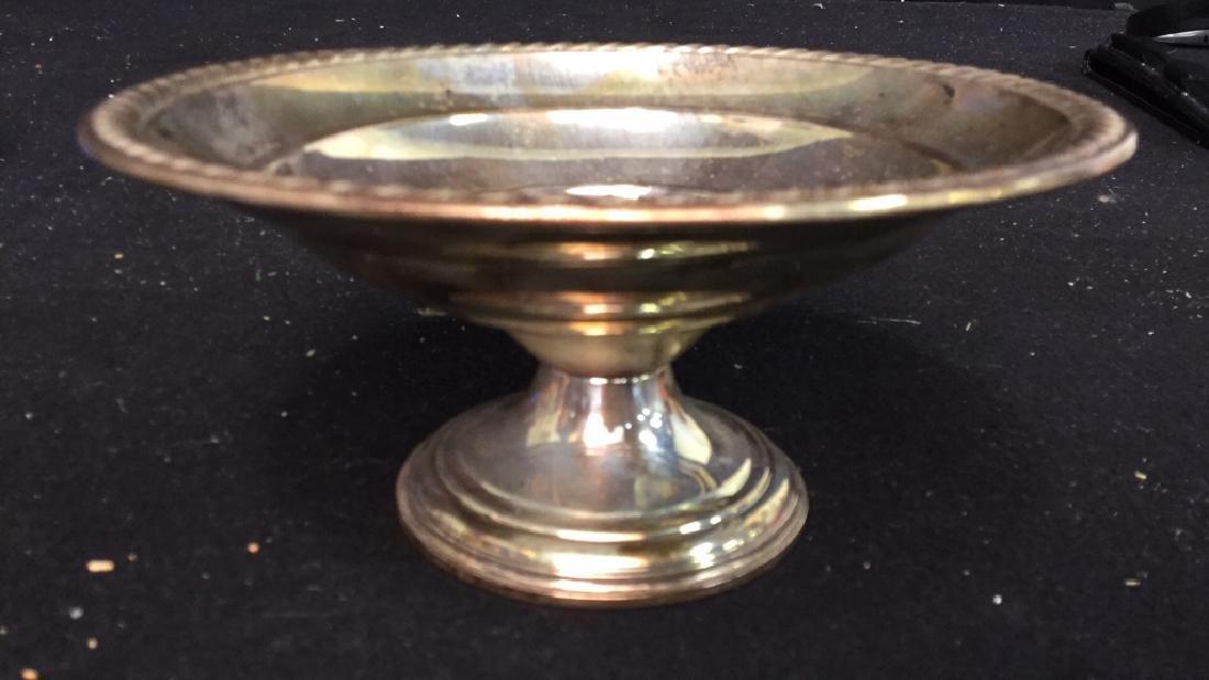 Vintage Sterling Silver Candy Dish Pedestal Seerving - 2