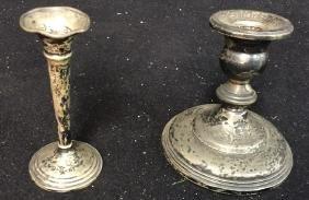 Vintage Sterling Candlestick Holders 2 Sterling silver