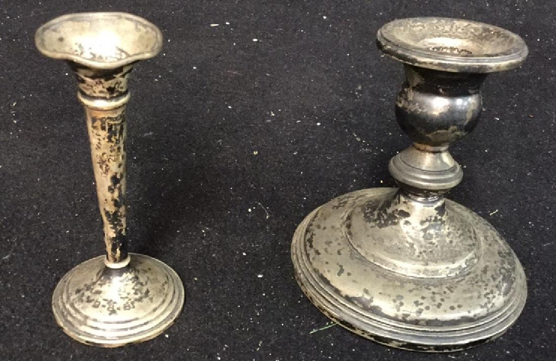 Vintage Sterling Candlestick Holders 2 Sterling silver